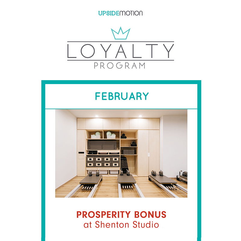 Upside Motion Perk February Bonus