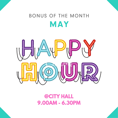 Perkville Perk Of The Month Happy Hours at City Hall