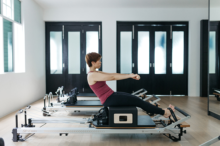 Upside Motion Upsider Spotlight Avryl On Pilates Reformer
