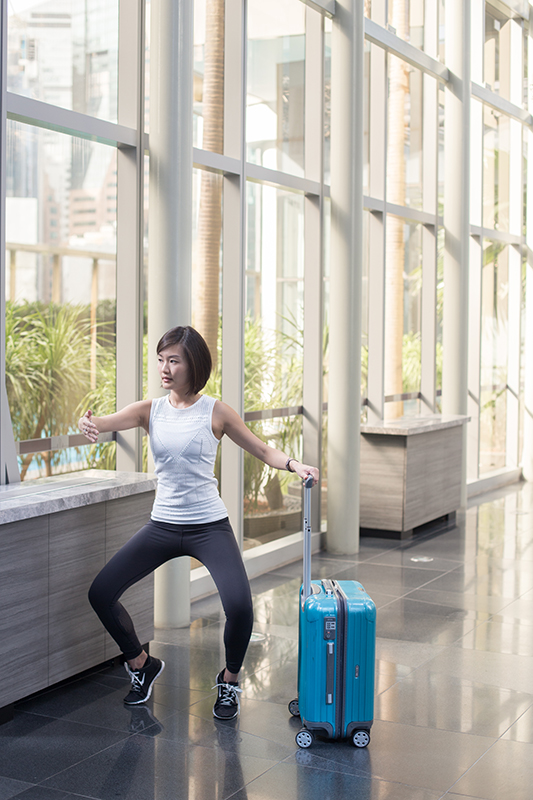 7 Travel-Friendly Exercises You Can Do At The Airport Second Position Plie