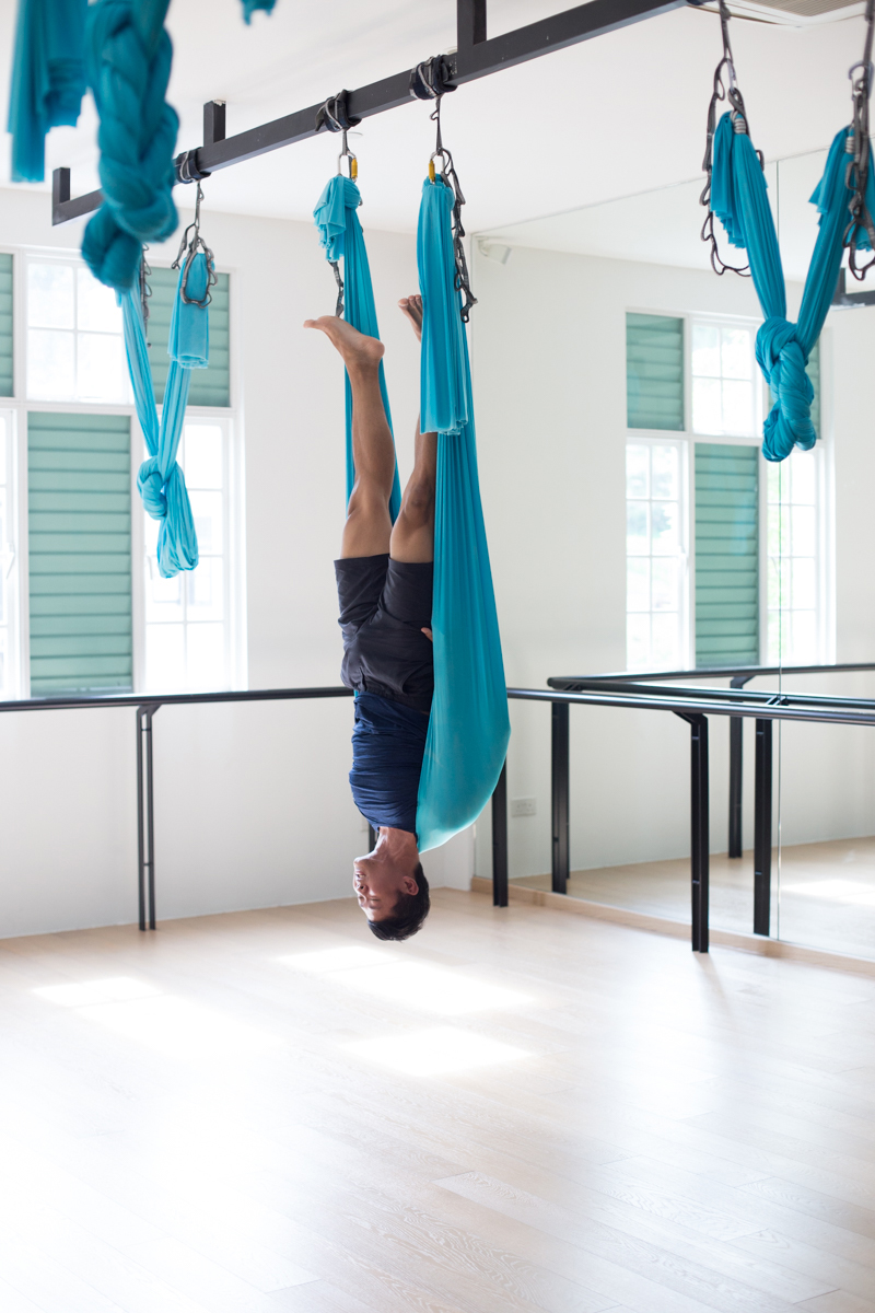 3 Aerial Stretches That Actually Heal You Flying Shoulder Stand