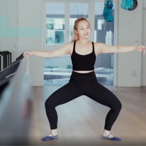 Upsiders At Home: Xtend Barre Second Position Plié with Jabi